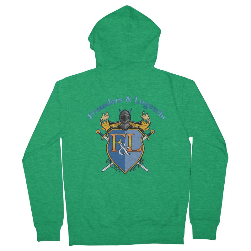 Founders and Legends Coat of Arms-Blue Men's Zip-Up Hoody by Founders and Legends Merchandise Shop