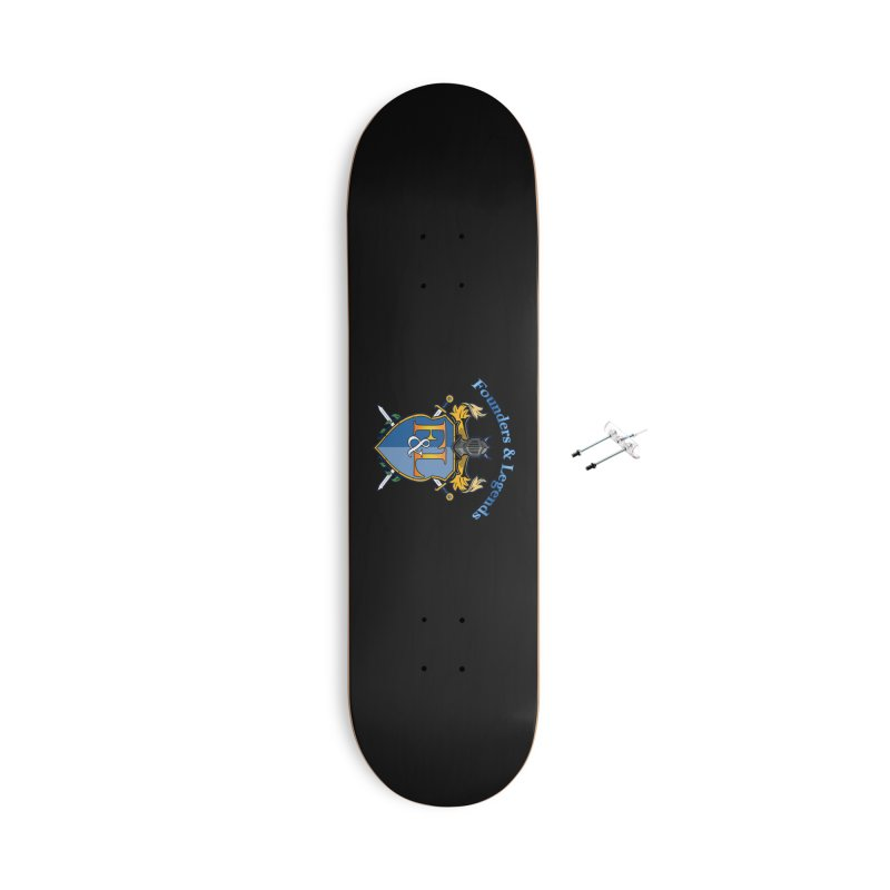 Founders and Legends Coat of Arms-Blue Accessories Skateboard by Founders and Legends Merchandise Shop