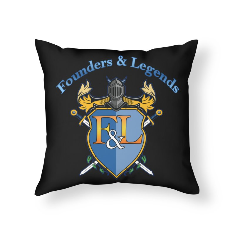 Founders and Legends Coat of Arms-Blue Home Throw Pillow by Founders and Legends Merchandise Shop
