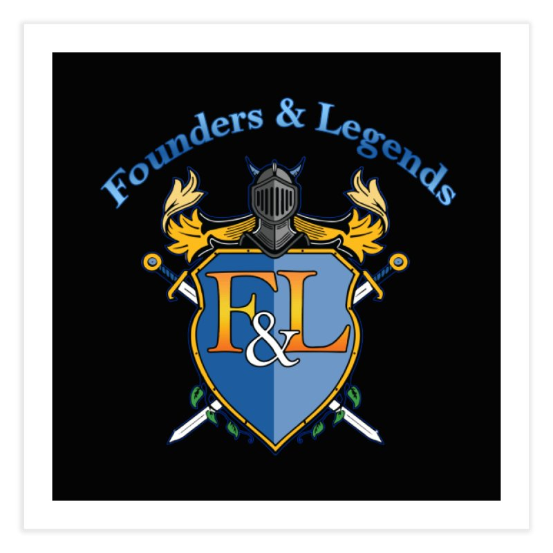 Founders and Legends Coat of Arms-Blue Home Fine Art Print by Founders and Legends Merchandise Shop