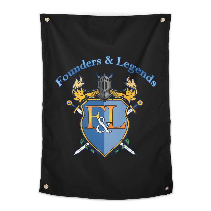 Founders and Legends Coat of Arms-Blue Home Tapestry by Founders and Legends Merchandise Shop