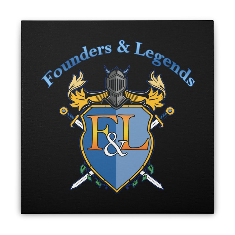 Founders and Legends Coat of Arms-Blue Home Stretched Canvas by Founders and Legends Merchandise Shop