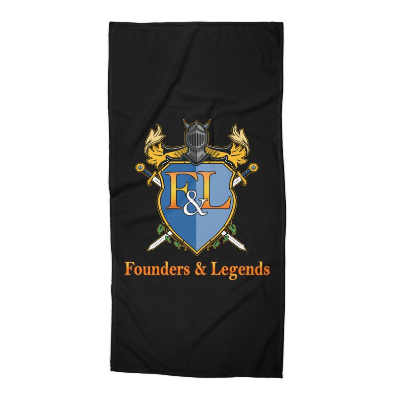 Founders & Legends Coat of Arms- Warm Accessories Beach Towel by Founders and Legends Merchandise Shop