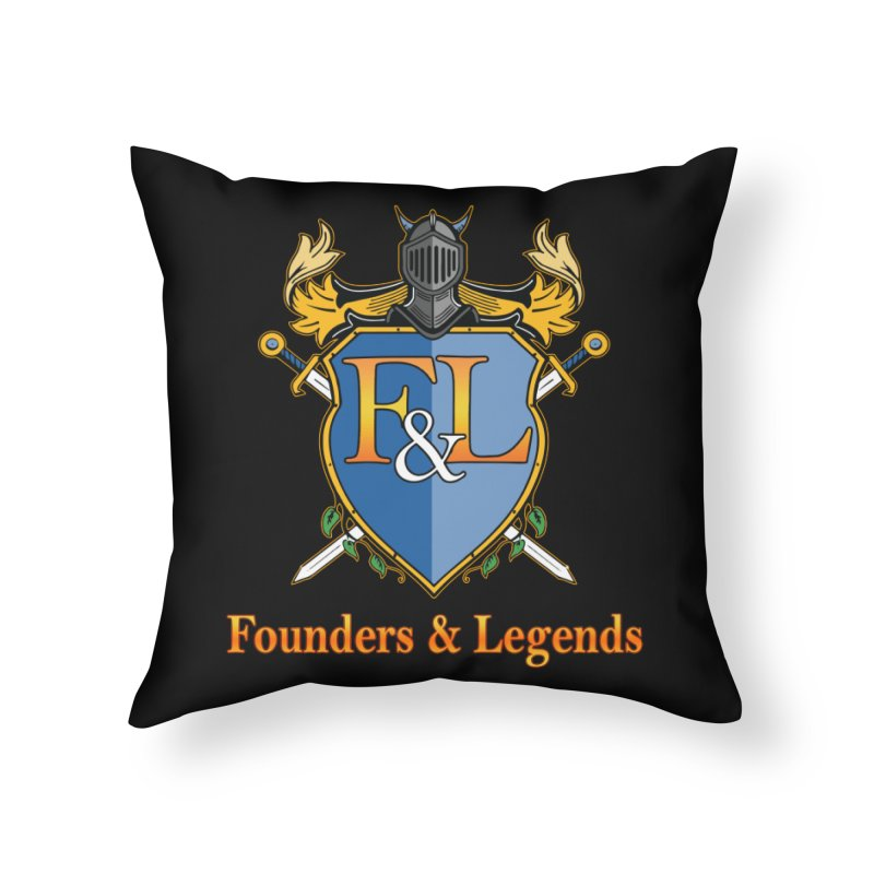 Founders & Legends Coat of Arms- Warm Home Throw Pillow by Founders and Legends Merchandise Shop