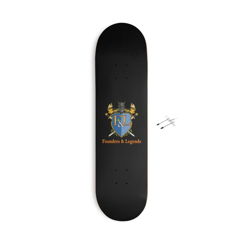 Founders & Legends Coat of Arms- Warm Accessories Skateboard by Founders and Legends Merchandise Shop