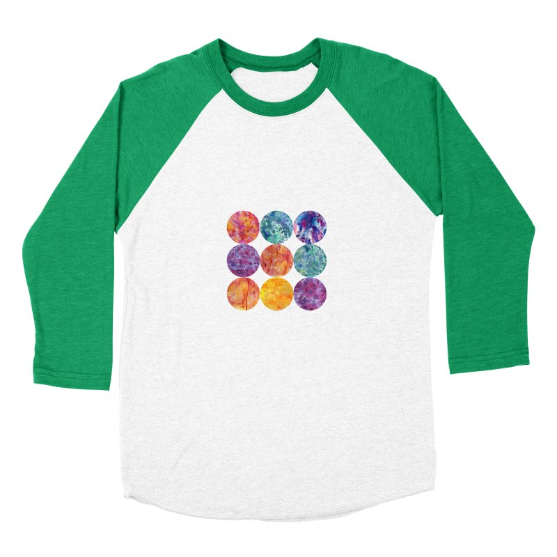 Multiverse Moons Men's Baseball Triblend Longsleeve T-Shirt by FoxandCrow's Artist Shop