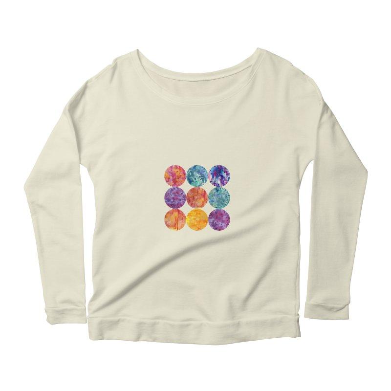 Multiverse Moons Women's Scoop Neck Longsleeve T-Shirt by FoxandCrow's Artist Shop