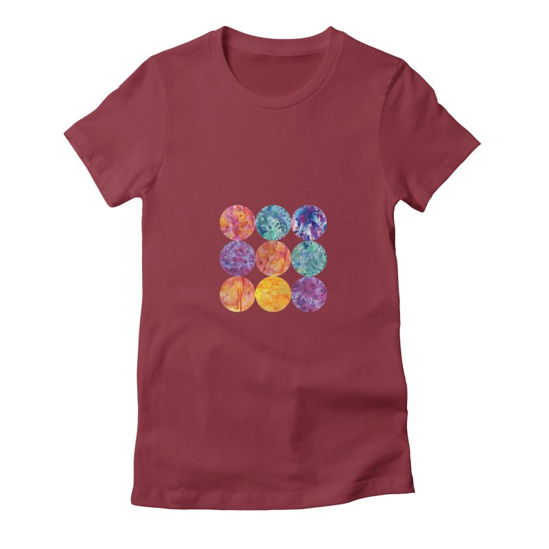 Multiverse Moons Women's Fitted T-Shirt by FoxandCrow's Artist Shop