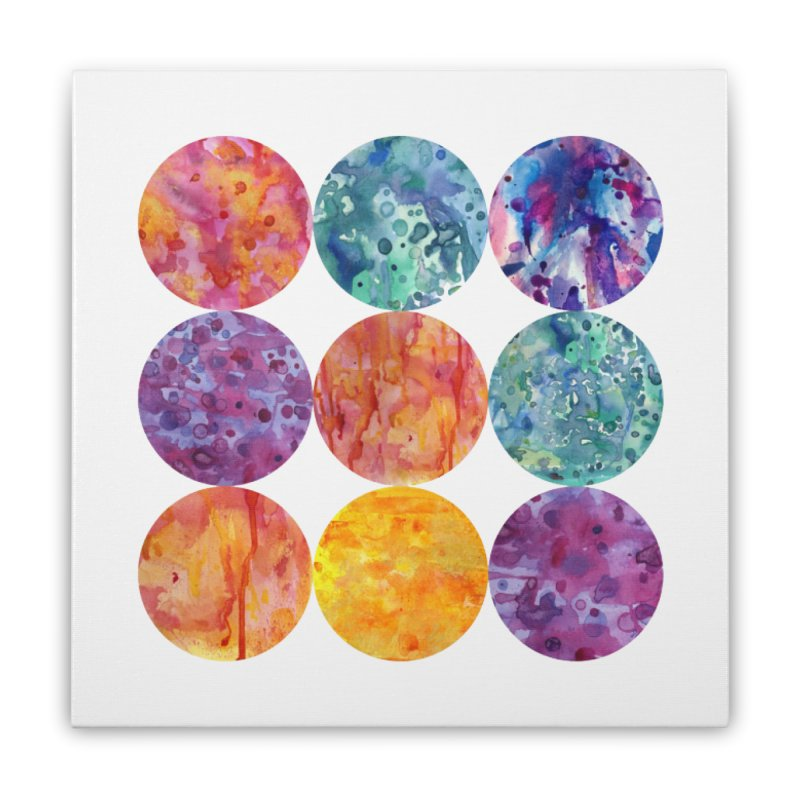 Multiverse Moons Home Stretched Canvas by FoxandCrow's Artist Shop