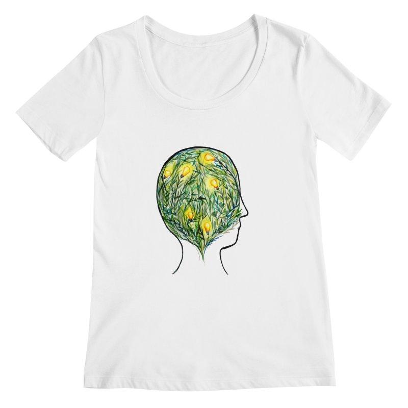 Garden of Your Mind Women's Regular Scoop Neck by FoxandCrow's Artist Shop