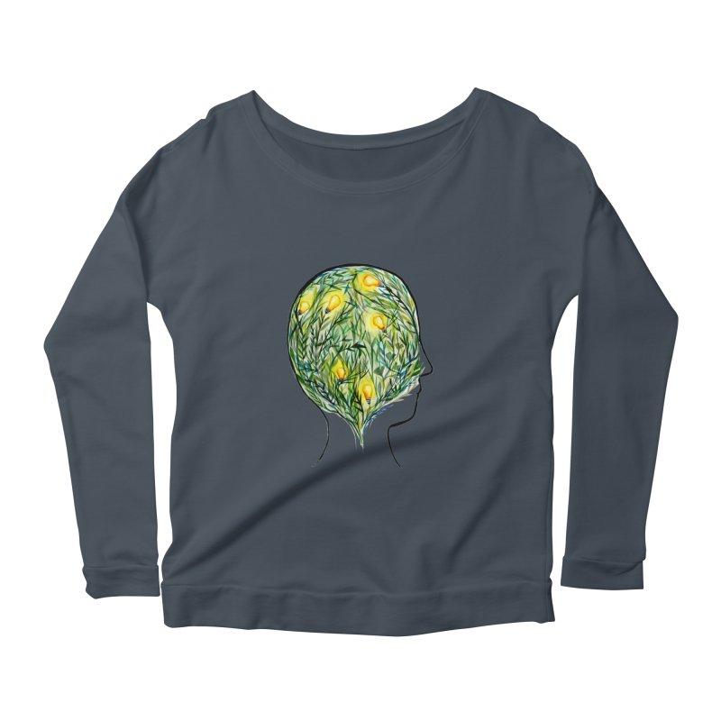 Garden of Your Mind Women's Scoop Neck Longsleeve T-Shirt by FoxandCrow's Artist Shop