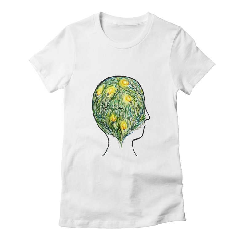 Garden of Your Mind Women's Fitted T-Shirt by FoxandCrow's Artist Shop