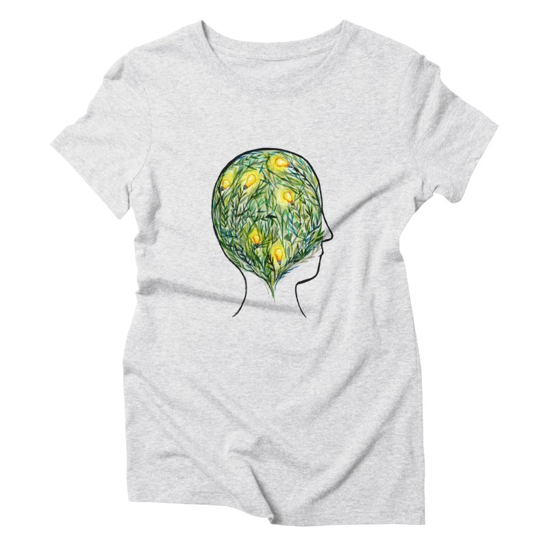 Garden of Your Mind in Women's Triblend T-Shirt Heather White by FoxandCrow's Artist Shop