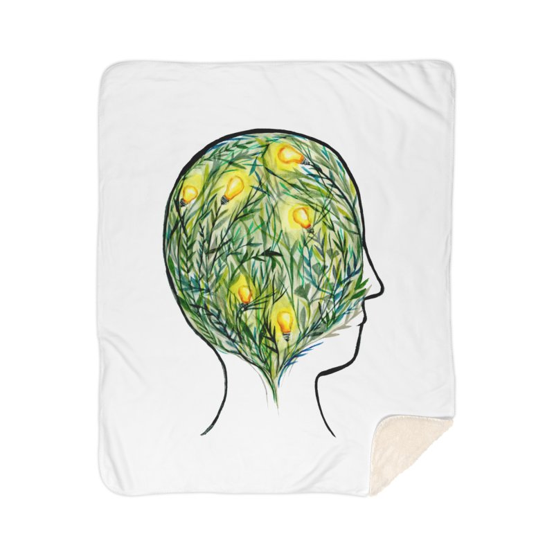 Garden of Your Mind Home Sherpa Blanket Blanket by FoxandCrow's Artist Shop