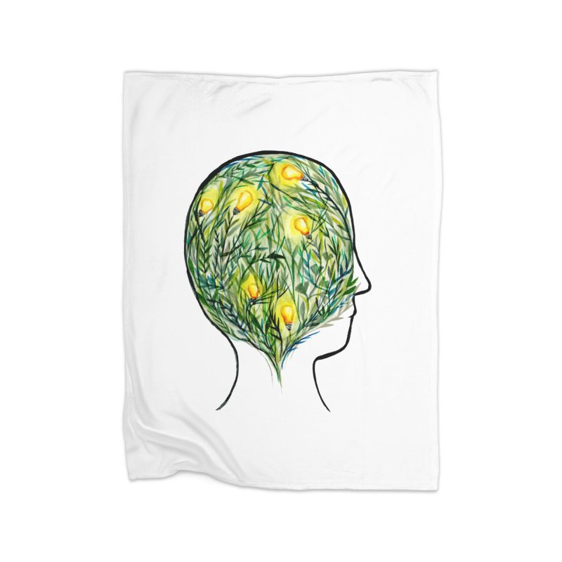 Garden of Your Mind Home Blanket by FoxandCrow's Artist Shop