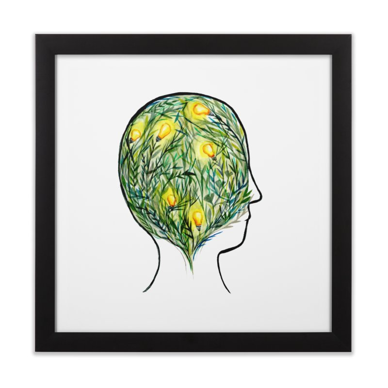 Garden of Your Mind Home Framed Fine Art Print by FoxandCrow's Artist Shop