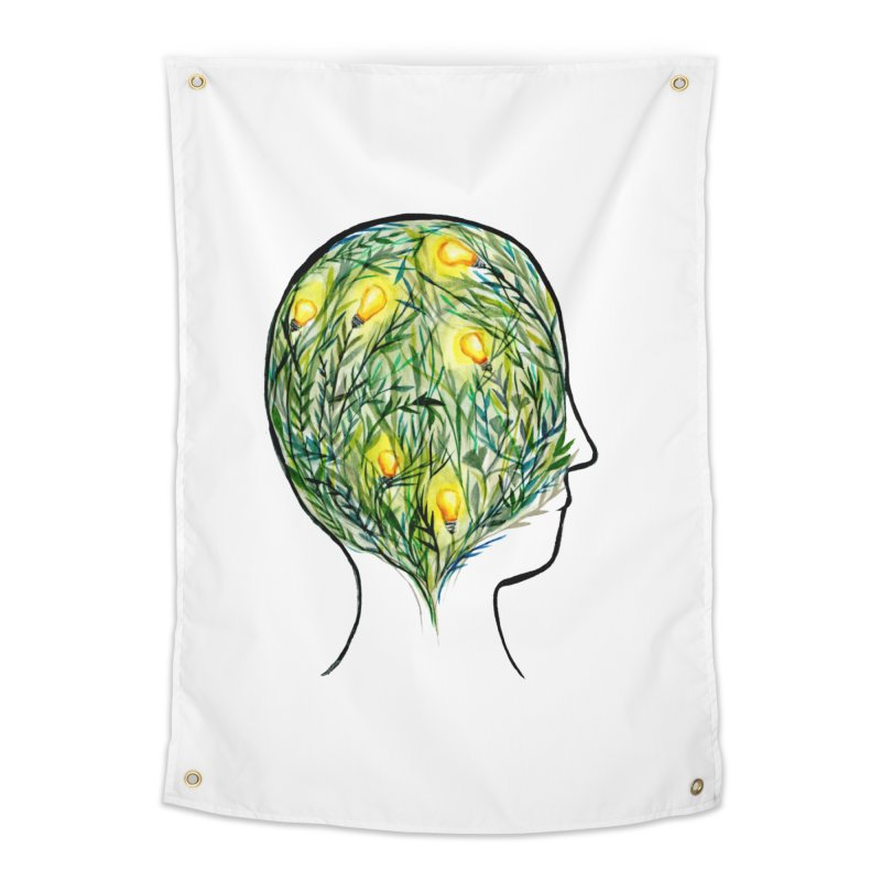 Garden of Your Mind Home Tapestry by FoxandCrow's Artist Shop