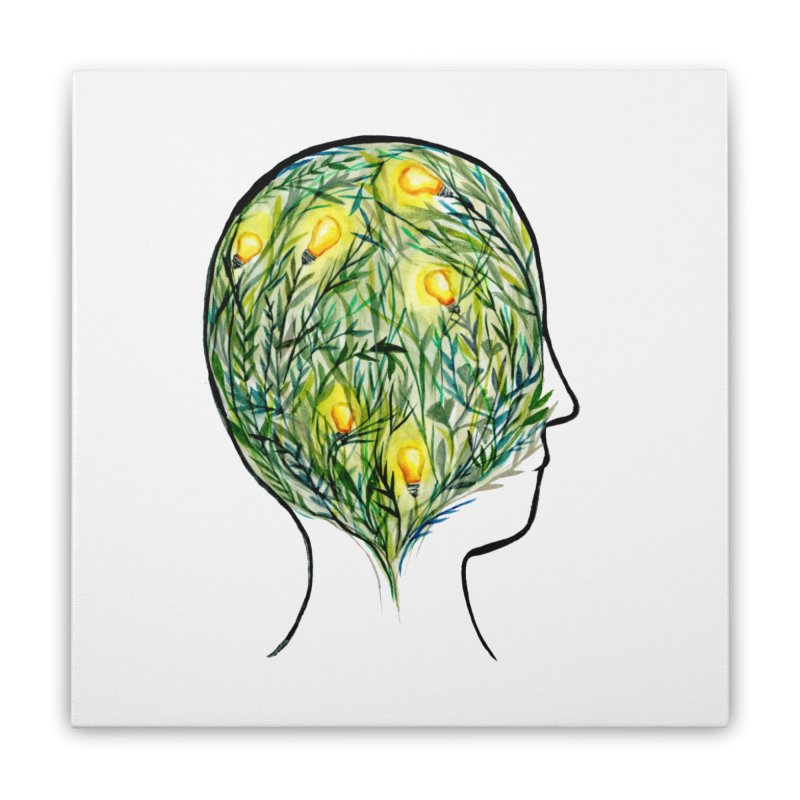 Garden of Your Mind Home Stretched Canvas by FoxandCrow's Artist Shop