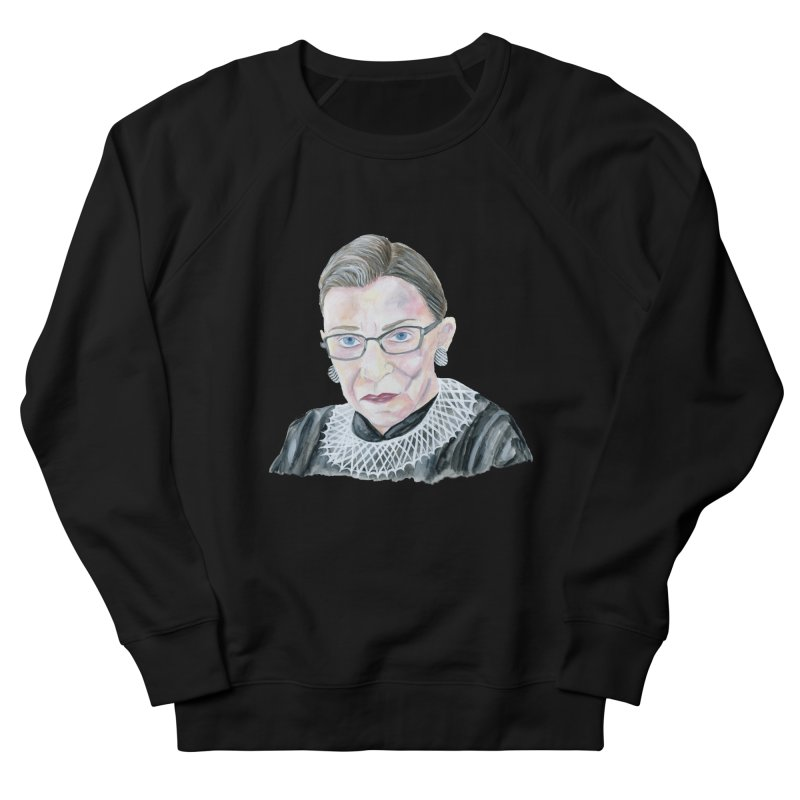 RBG in Women's French Terry Sweatshirt Black by FoxandCrow's Artist Shop