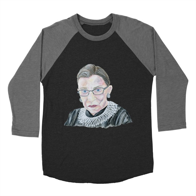 RBG Men's Baseball Triblend Longsleeve T-Shirt by FoxandCrow's Artist Shop