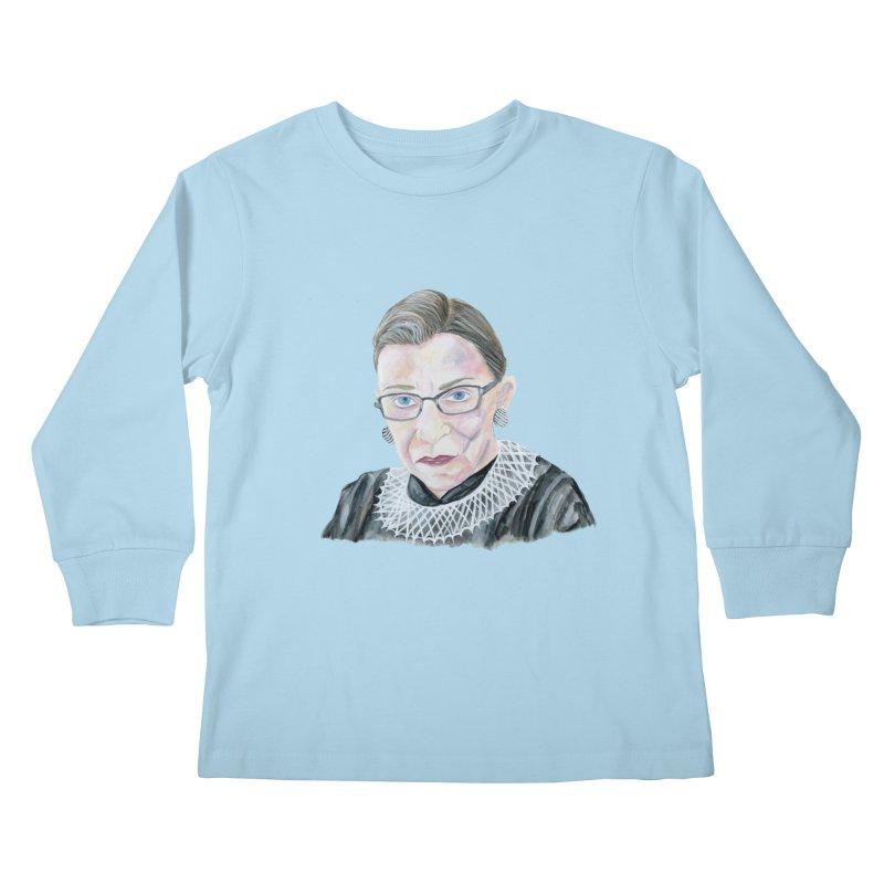 RBG Kids Longsleeve T-Shirt by FoxandCrow's Artist Shop