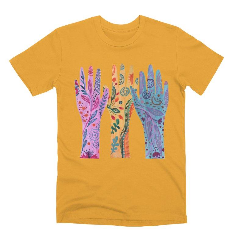 Magical Floral Hands Men's T-Shirt by FoxandCrow's Artist Shop