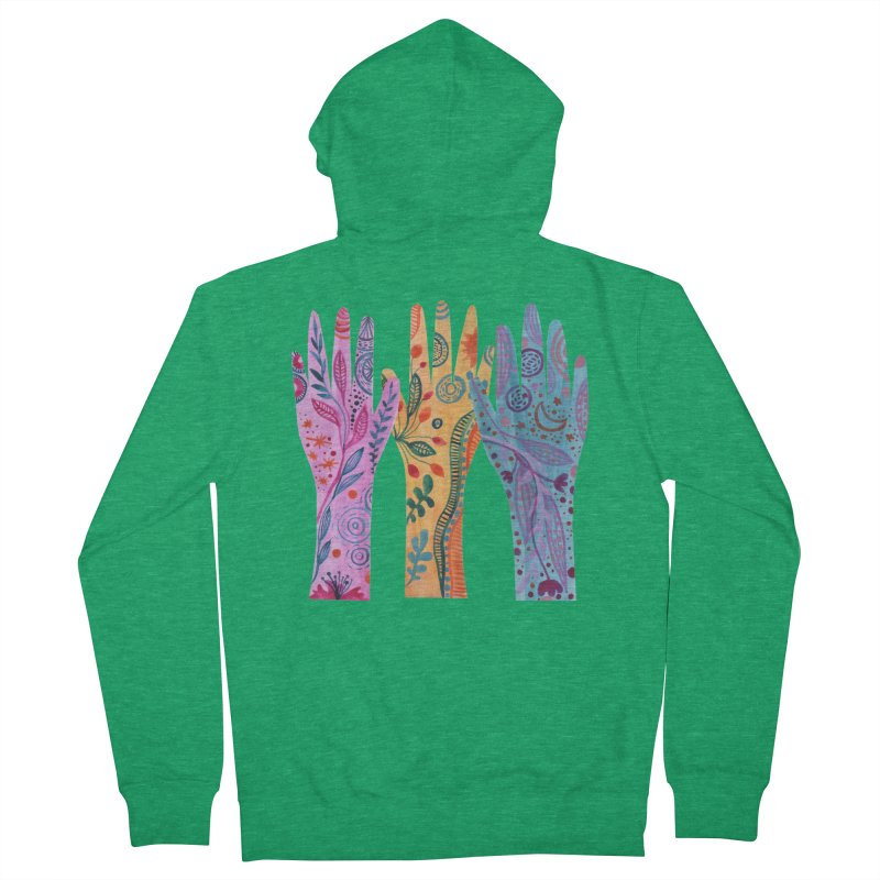 Magical Floral Hands Women's Zip-Up Hoody by FoxandCrow's Artist Shop
