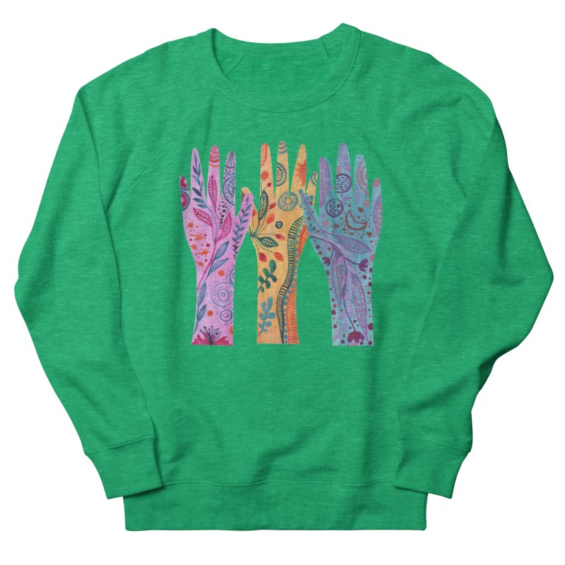 Magical Floral Hands Women's Sweatshirt by FoxandCrow's Artist Shop