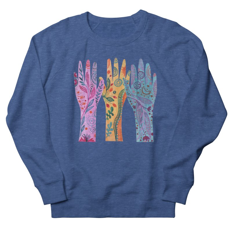 Magical Floral Hands Men's Sweatshirt by FoxandCrow's Artist Shop