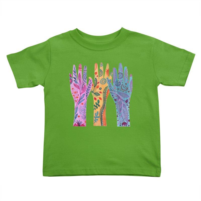 Magical Floral Hands Kids Toddler T-Shirt by FoxandCrow's Artist Shop