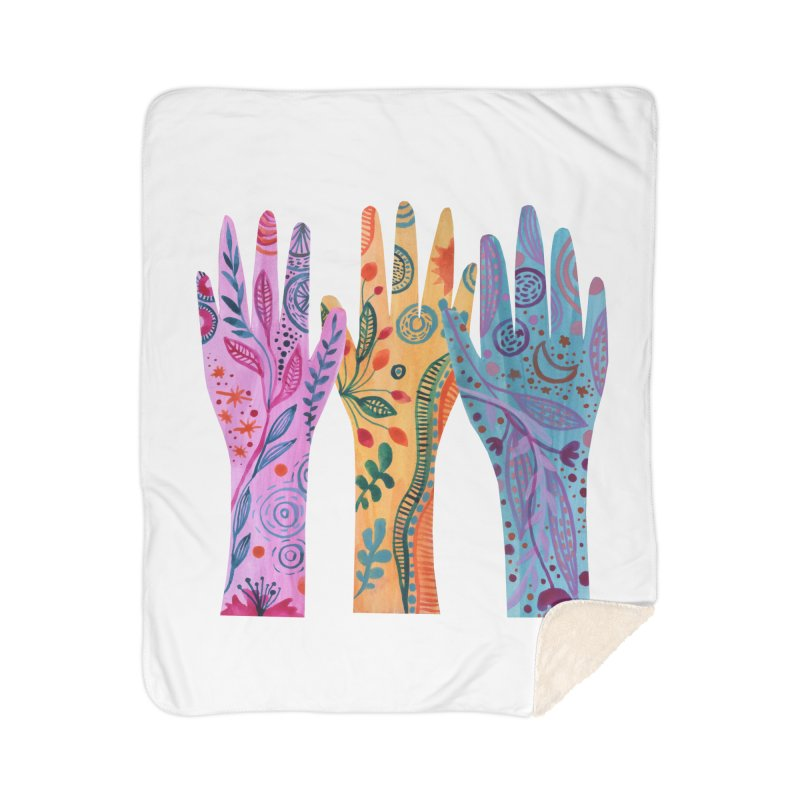 Magical Floral Hands Home Blanket by FoxandCrow's Artist Shop