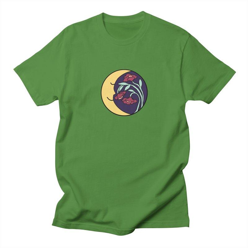 Moon Flower Burgundy Women's Regular Unisex T-Shirt by FoxandCrow's Artist Shop