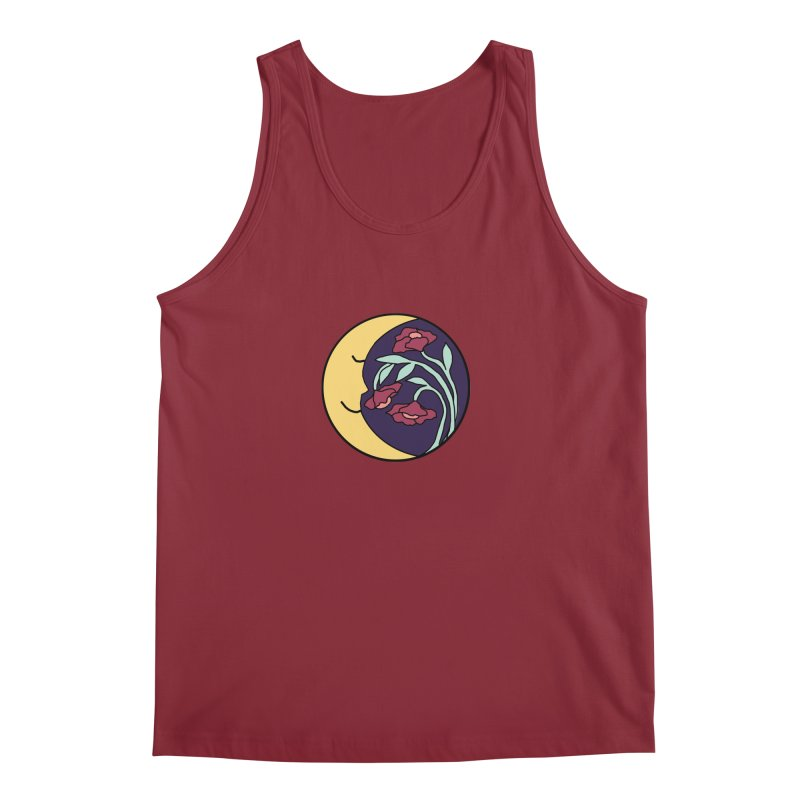 Moon Flower Burgundy Men's Regular Tank by FoxandCrow's Artist Shop