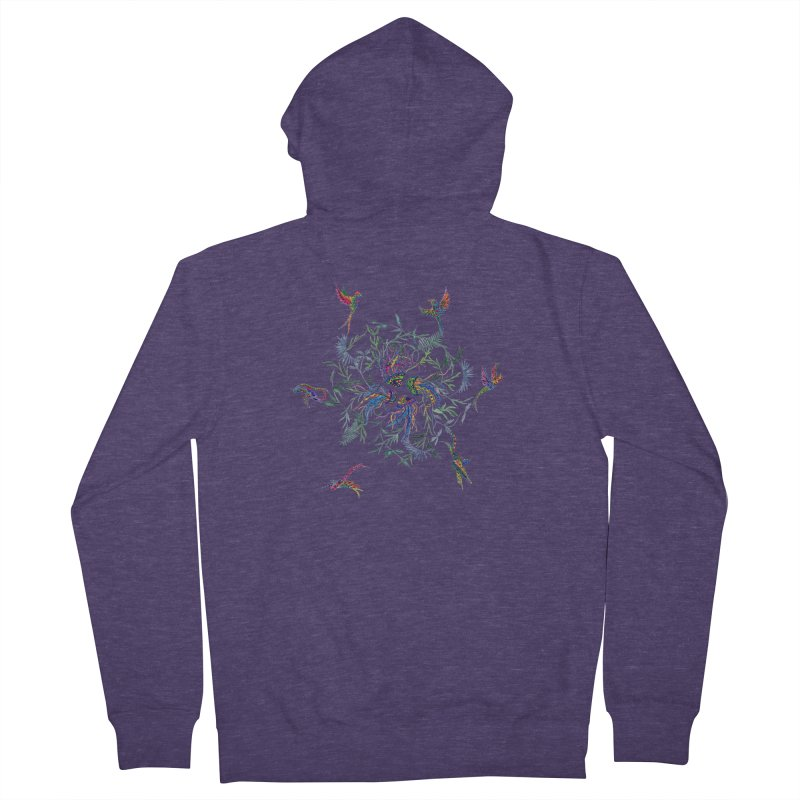 Fly in the Sea Men's French Terry Zip-Up Hoody by FoxandCrow's Artist Shop