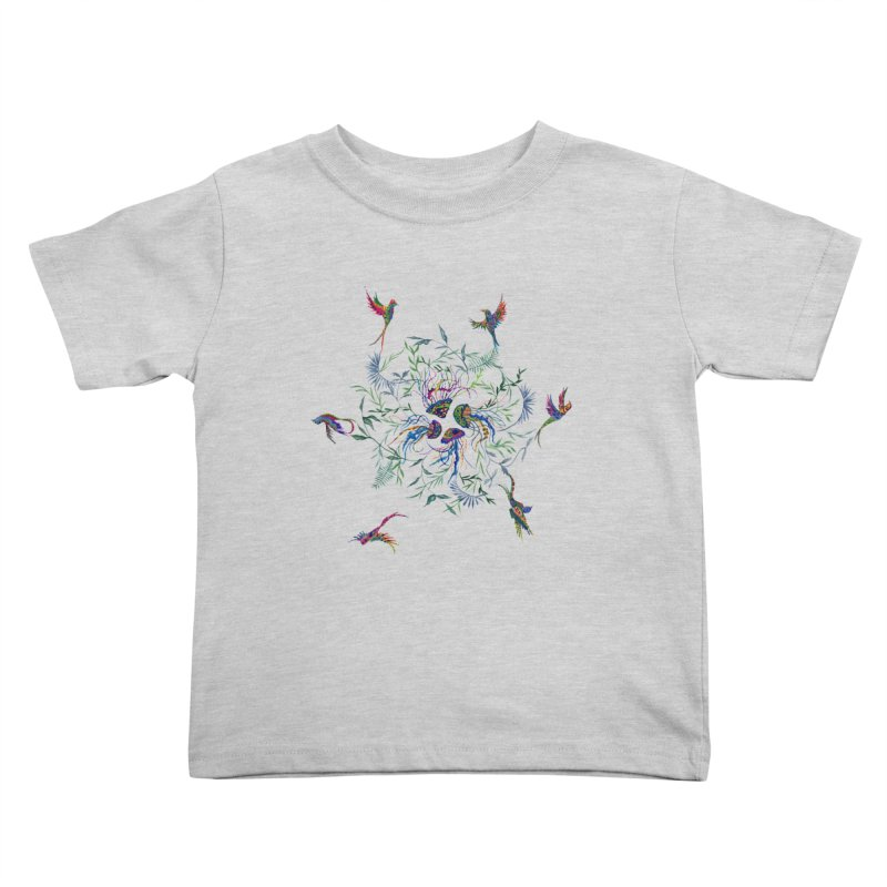 Fly in the Sea Kids Toddler T-Shirt by FoxandCrow's Artist Shop