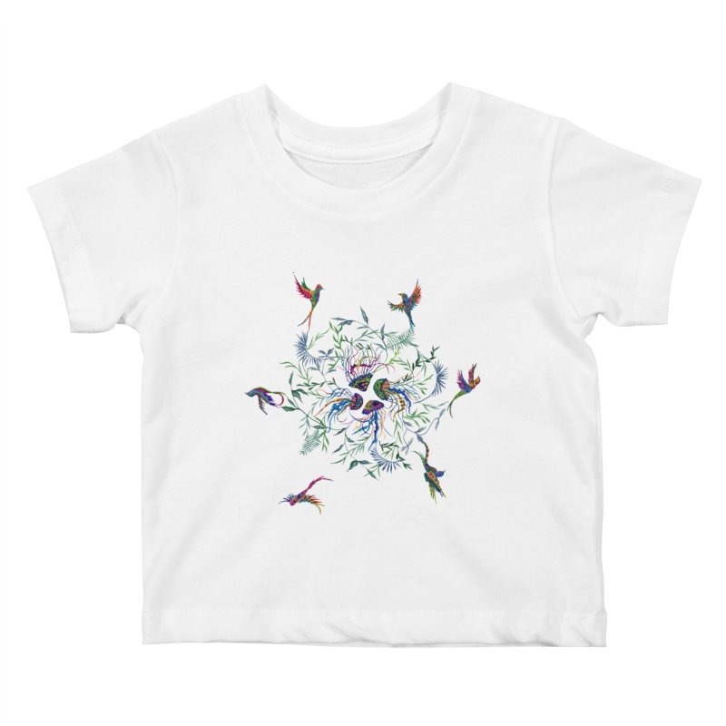 Fly in the Sea Kids Baby T-Shirt by FoxandCrow's Artist Shop