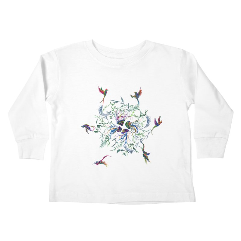Fly in the Sea Kids Toddler Longsleeve T-Shirt by FoxandCrow's Artist Shop