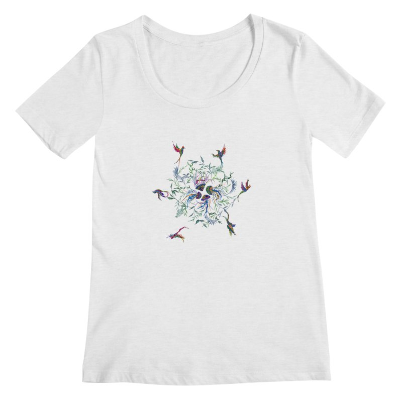 Fly in the Sea Women's Regular Scoop Neck by FoxandCrow's Artist Shop
