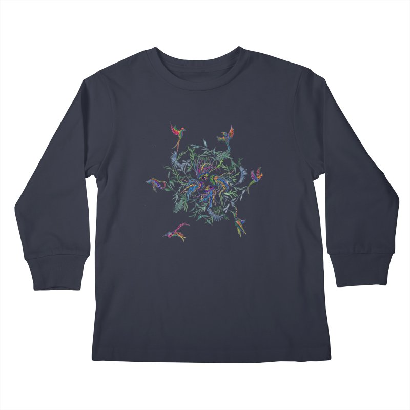 Fly in the Sea Kids Longsleeve T-Shirt by FoxandCrow's Artist Shop