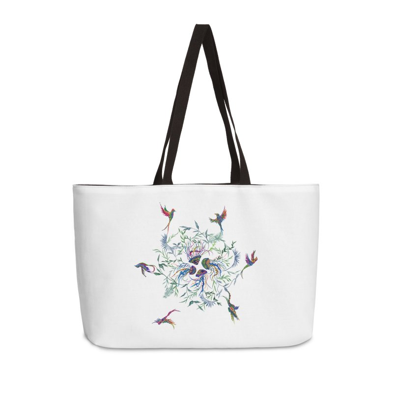 Fly in the Sea Accessories Weekender Bag Bag by FoxandCrow's Artist Shop