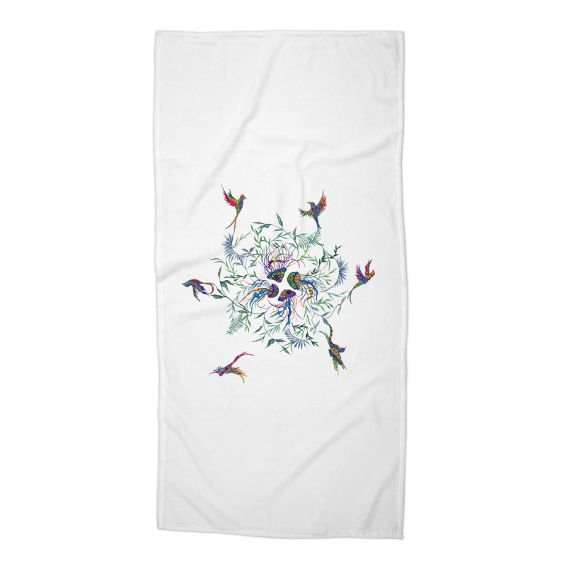 Fly in the Sea Accessories Beach Towel by FoxandCrow's Artist Shop