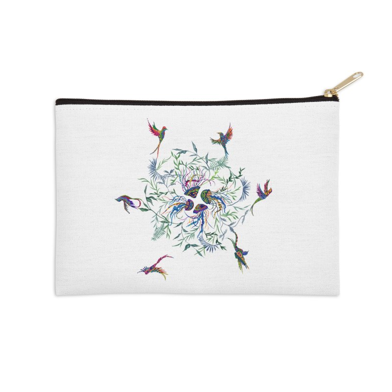 Fly in the Sea Accessories Zip Pouch by FoxandCrow's Artist Shop