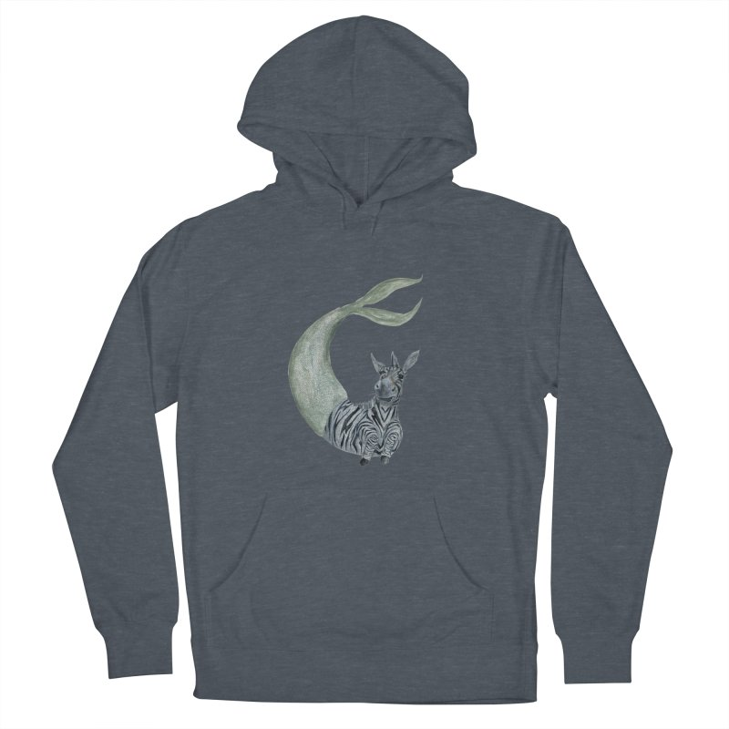 MerBra Women's French Terry Pullover Hoody by FoxandCrow's Artist Shop