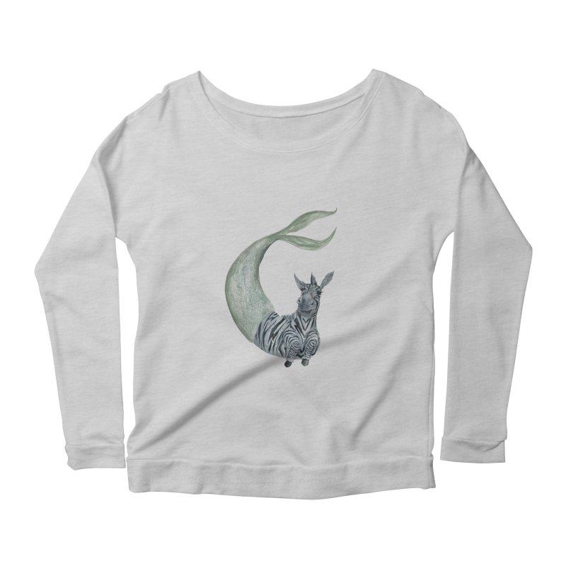 MerBra Women's Scoop Neck Longsleeve T-Shirt by FoxandCrow's Artist Shop