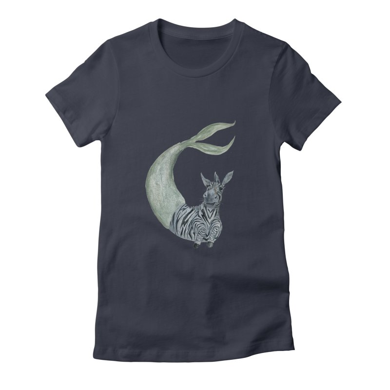 MerBra Women's Fitted T-Shirt by FoxandCrow's Artist Shop