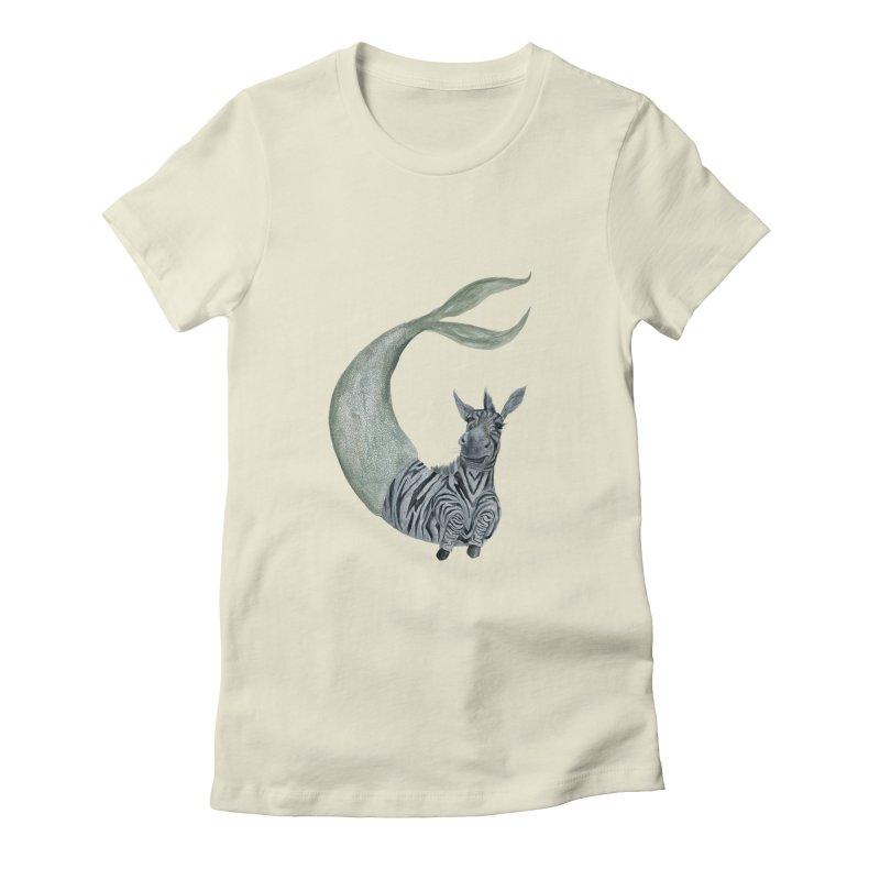 MerBra Women's Fitted T-Shirt by FoxandCrow's Artist Shop