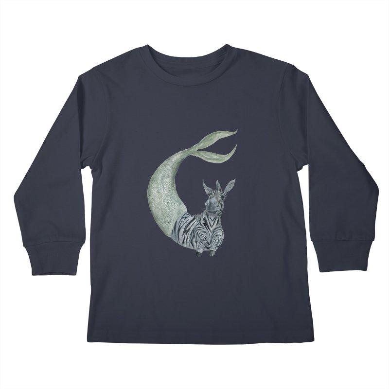 MerBra Kids Longsleeve T-Shirt by FoxandCrow's Artist Shop