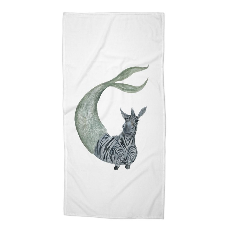 MerBra Accessories Beach Towel by FoxandCrow's Artist Shop