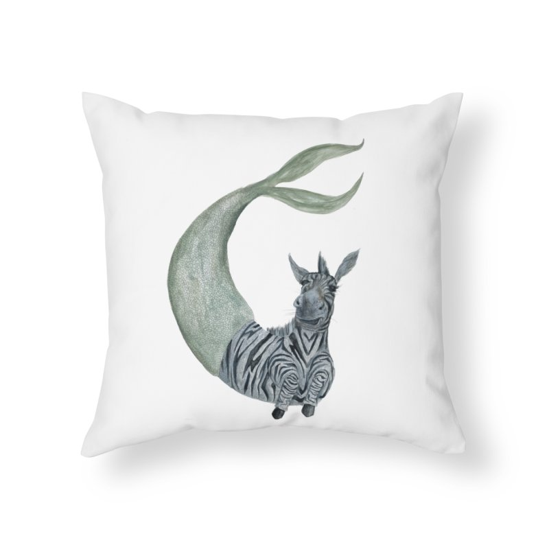 MerBra Home Throw Pillow by FoxandCrow's Artist Shop