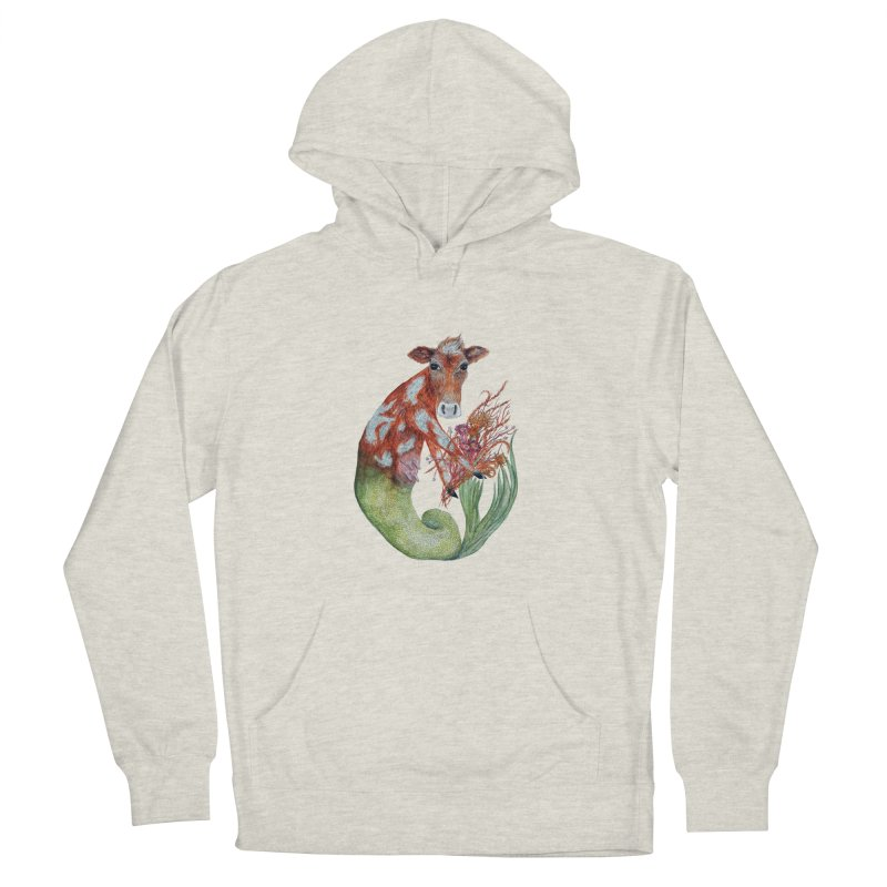 MerMoo Women's French Terry Pullover Hoody by FoxandCrow's Artist Shop